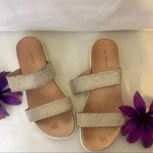 Call it Spring Blinged Out Sandals